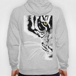 Art print: The yellow eye of the tiger Hoody