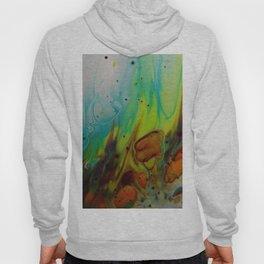 Neon Burn - Abstract Acrylic Art by Fluid Nature Hoody