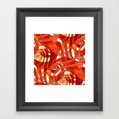 That's How I Whirl (orange) Framed Art Print