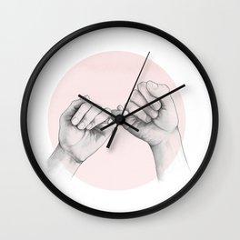 pinky swear // hand study Wall Clock