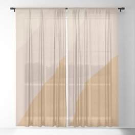 Warm Neutral Color Wave Sheer Curtain