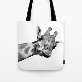 Black and white giraffe Tote Bag