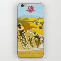 Strade Bianche retro cycling classic art iPhone & iPod Skin