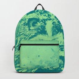 owl portrait 5 wstk Backpack