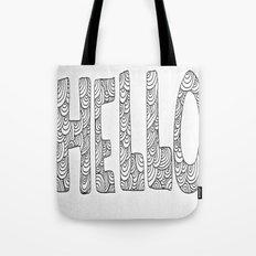 Wavy Hello Tote Bag