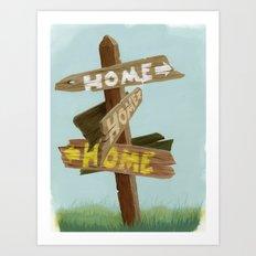 Homeward Art Print