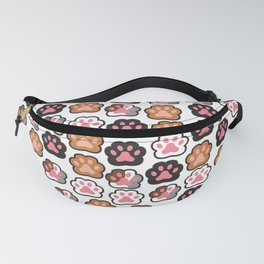 Kitten Paws Pattern from all walks of life Fanny Pack