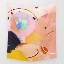 circles art abstract Wall Tapestry