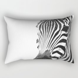 Black and white zebra illustration Rectangular Pillow