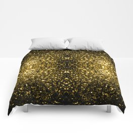 Beautiful Yellow Gold sparkles Comforters