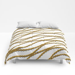 Wave Gold Chain White Comforters