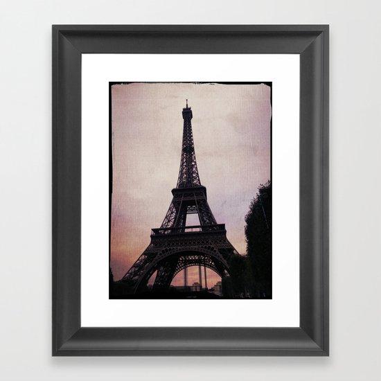 Vintage Paris Framed Art Print