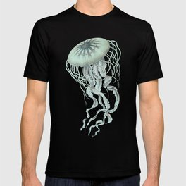 Jellyfish Underwater Aqua Turquoise Art T-shirt