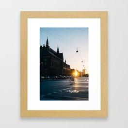 CPH morning Framed Art Print