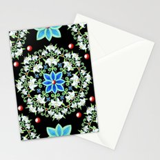 Folkloric Lily Medallion Stationery Cards