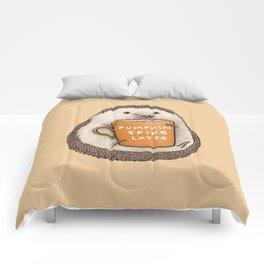 Pumpkin Spike Latte Comforters