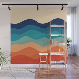 Retro 70s Waves Wall Mural
