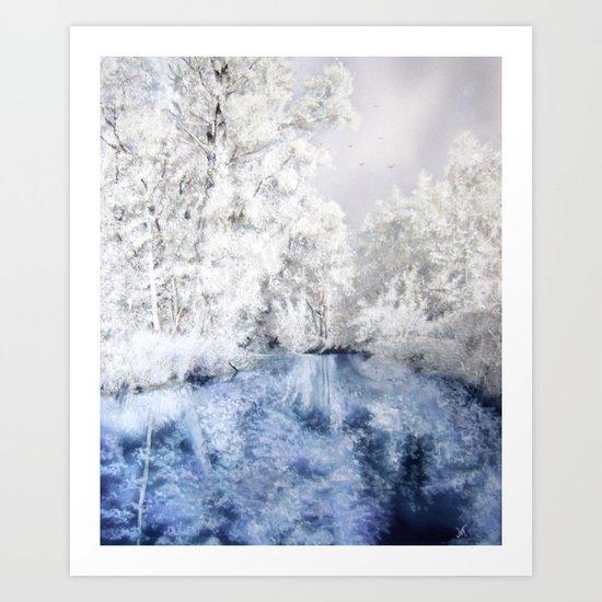 Frozen Beauty Art Print