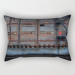 Steel Yard Train Track Bridge Rectangular Pillow