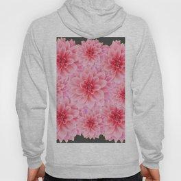 PINK DAHLIA FLOWERS IN GREY DESIGN Hoody