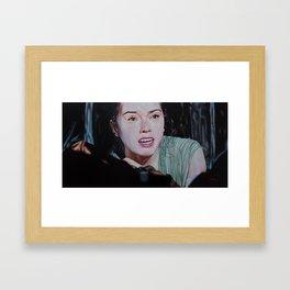 Between Light and Darkness Framed Art Print