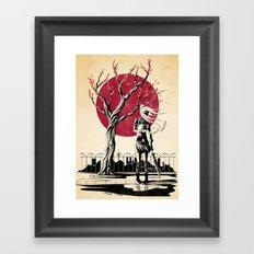 Japanese student Framed Art Print