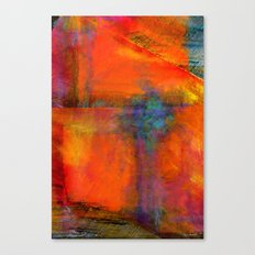 Orange - Abstract Digital Painting Canvas Print