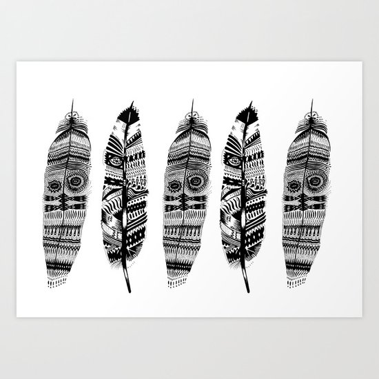 Feather time  Art Print