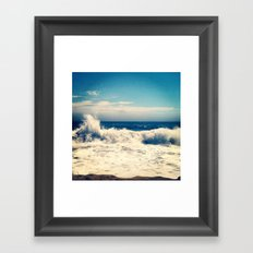 SOUTH BEACH SALT Framed Art Print