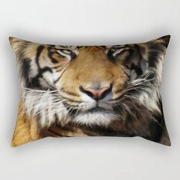 Tiger, Tiger - Big Cat Art Design Rectangular Pillow