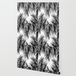 Palm Leaf Jungle Vibes #3 #tropical #decor #art #society6 Wallpaper