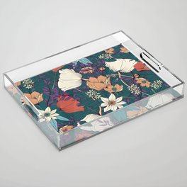 Botanical pattern 008 Acrylic Tray