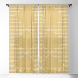 Geo / Yellow Sheer Curtain
