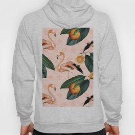 Flamingos & Tangerines Pattern Hoody