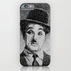 Chaplin portrait - Fingerprint iPhone 6s Slim Case