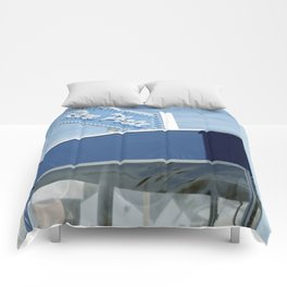 blue plate Comforters