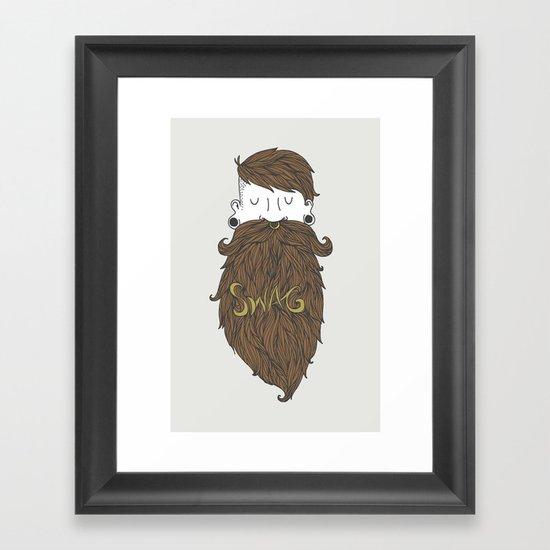 Beard Swag (Highlights) Framed Art Print