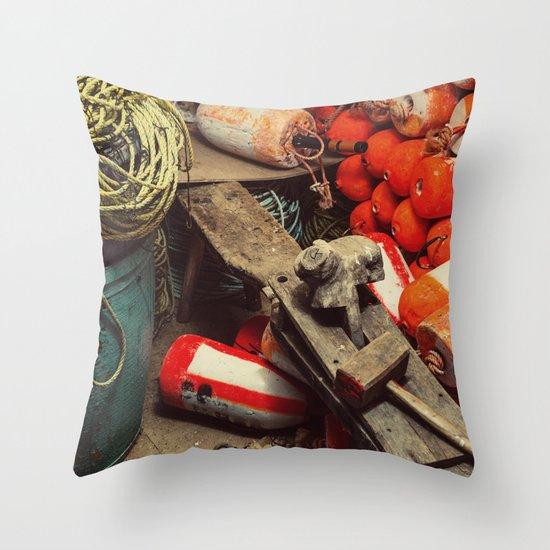 Buoy Factory Throw Pillow