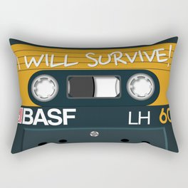 Vintage Audio Tape - BASF - I Will Survive! Rectangular Pillow