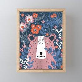 Bear Garden Framed Mini Art Print
