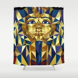 Golden Tutankhamun - Pharaoh's Mask Shower Curtain
