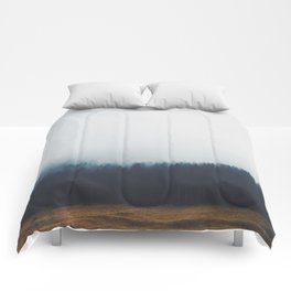 Dreary Landscape forest Comforters