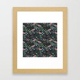 Moth & Starling Framed Art Print