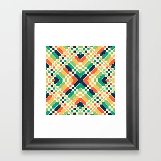 Retrographic Framed Art Print