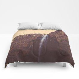 High Desert Waterfall Comforters