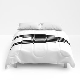 Side Ways | Black Comforters