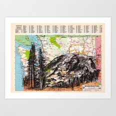 Washington Art Print