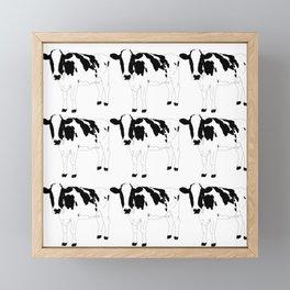 Cow Pattern Framed Mini Art Print