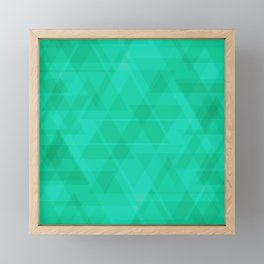 Bright marine triangles in intersection and overlay. Framed Mini Art Print