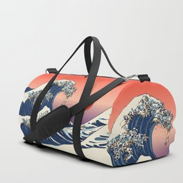 The Great Wave of Pug Duffle Bag